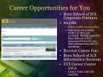 career opportunities for you