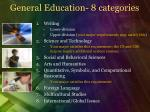 general education 8 categories