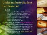 undergraduate student fee payment