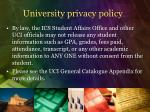 university privacy policy