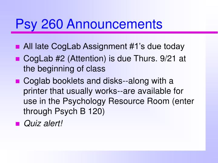 psy 260 announcements n.