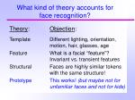 what kind of theory accounts for face recognition1