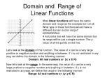 domain and range of linear functions