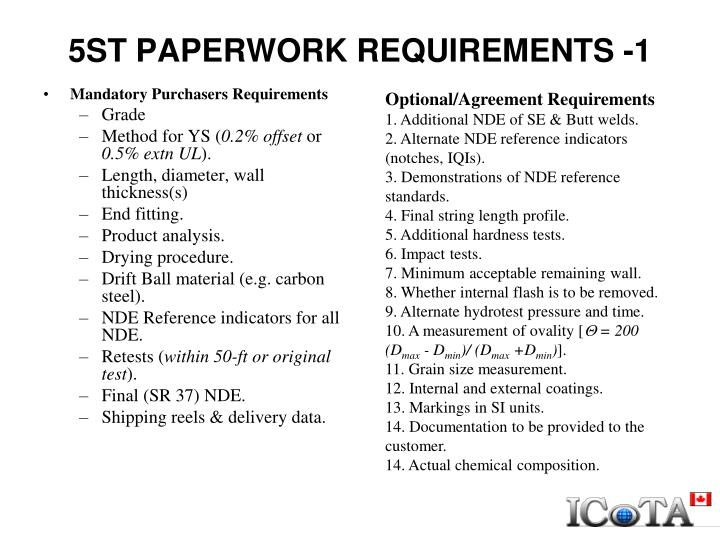 5ST PAPERWORK REQUIREMENTS -1