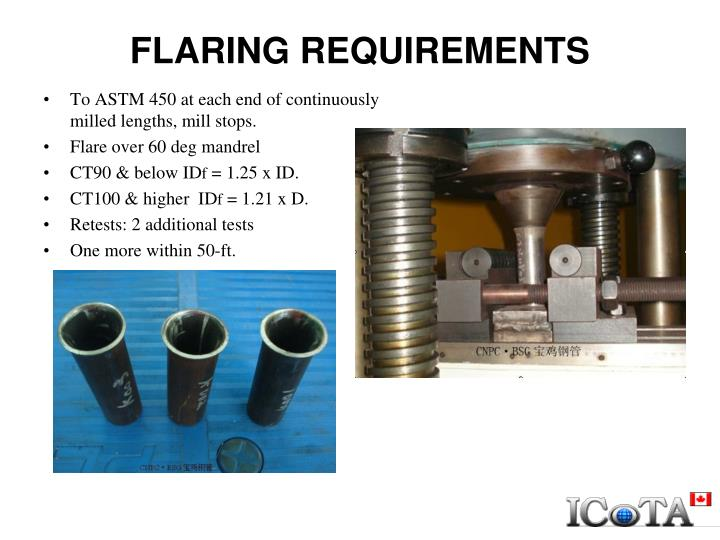 FLARING REQUIREMENTS
