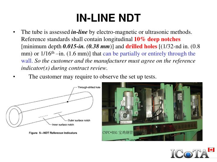 IN-LINE NDT