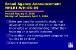 broad agency announcement nhlbi wh 06 09