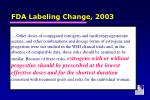 fda labeling change 20031