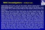 whi investigators a short list
