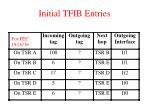 initial tfib entries