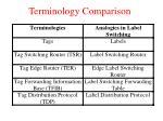 terminology comparison