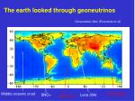 the earth looked through geoneutrinos