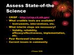 assess state of the science