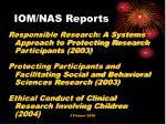 iom nas reports
