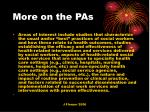 more on the pas
