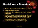 social work domains