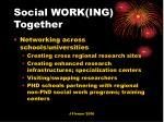 social work ing together