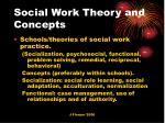 social work theory and concepts