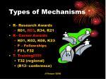 types of mechanisms