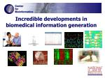 incredible developments in biomedical information generation