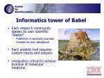informatics tower of babel