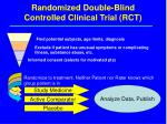 randomized double blind controlled clinical trial rct