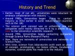 history and trend
