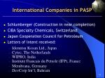 international companies in pasp