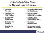 cam modalities now in mainstream medicine