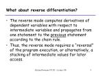 what about reverse differentiation