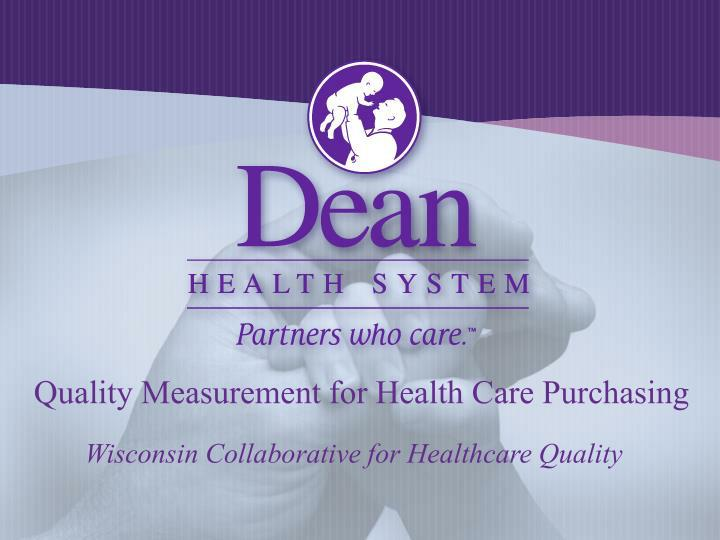 quality measurement for health care purchasing n.