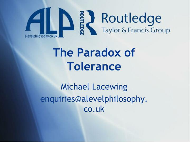 the paradox of tolerance n.