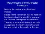 weaknesses of the mercator projection