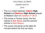 volleyball scoring sample match 2010