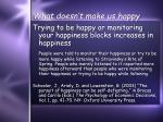 what doesn t make us happy