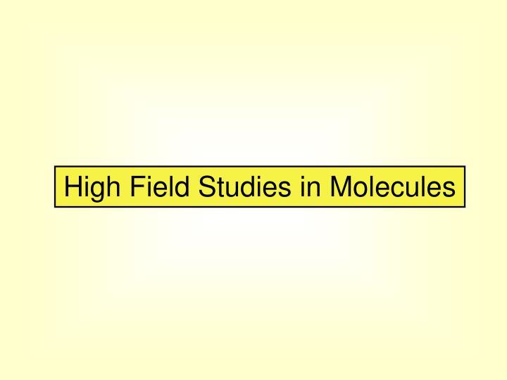 High Field Studies in Molecules