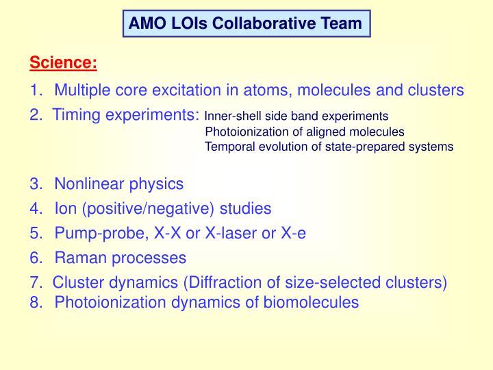 AMO LOIs Collaborative Team