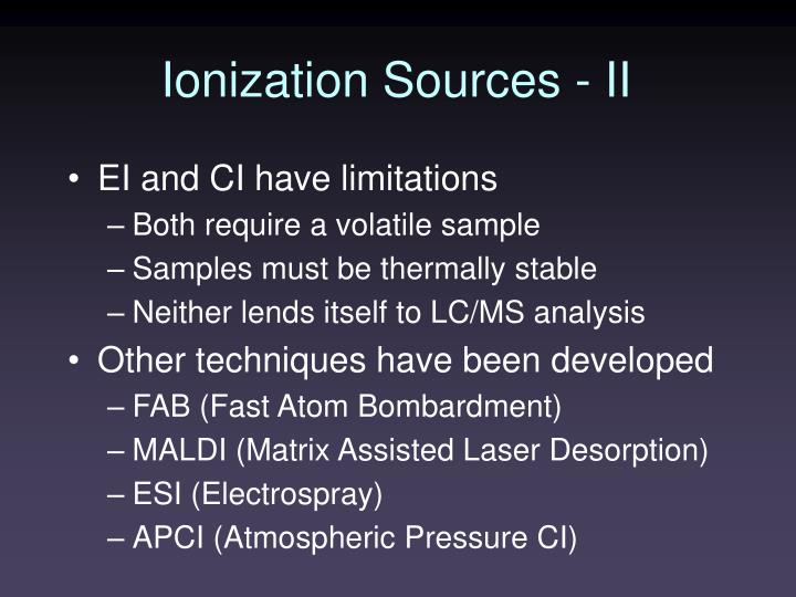 PPT - Ionization Sources - II PowerPoint Presentation - ID