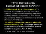 why is there an issue facts about hunger poverty