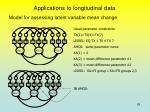 applications to longitudinal data3