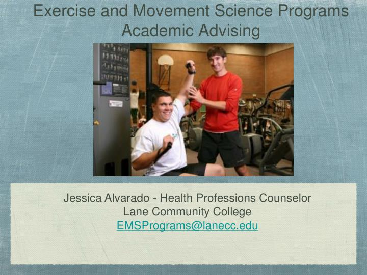 exercise and movement science programs academic advising n.