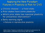 applying the new paradigm failures in plasticity risk for cvd