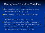 examples of random variables