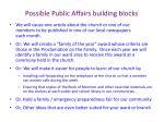 possible public affairs building blocks