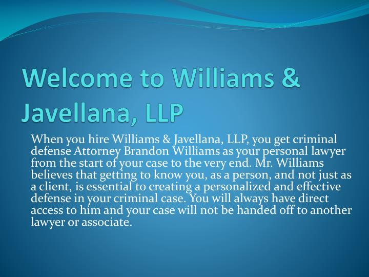 welcome to williams javellana llp n.