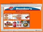 the menu page displays all of the items domino s has to offer