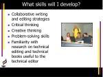 what skills will i develop