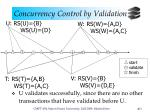 concurrency control by validation10