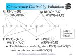 concurrency control by validation11