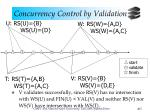 concurrency control by validation12